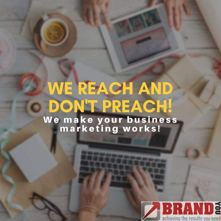 We reach and don't preach!  We make your business marketing works!    https://brandyou.ie/