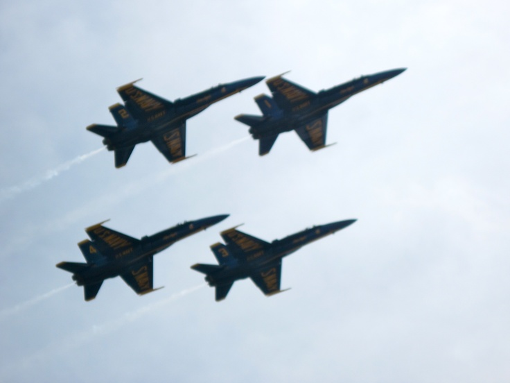 Battle Creek, MI Air Show - my Dad loved taking us to the air show when we were kids.  Watched the Blue Angels and the Thunderbirds several times.
