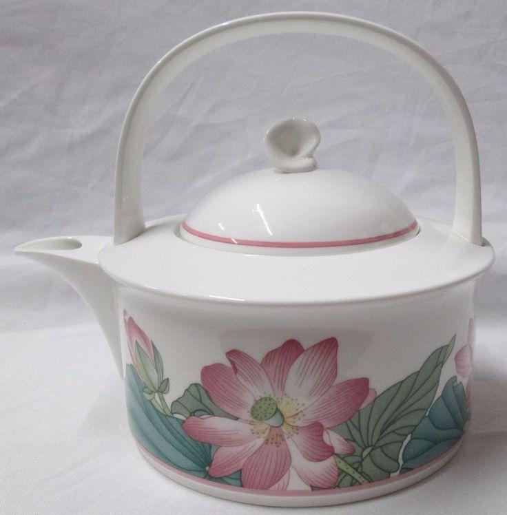 villeroy boch bone china tea pot lid 1748 jade wes. Black Bedroom Furniture Sets. Home Design Ideas