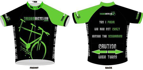 Tandem Jersey | Tandem Bike, Road Tandems, Tandem Mountain Bike, Tandem Bicycle, Information and Resource
