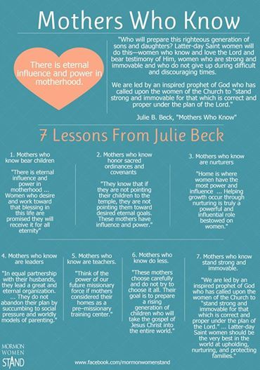 #julie beck #mormonwomenstand #lds Stand for  womanhood and motherhood.