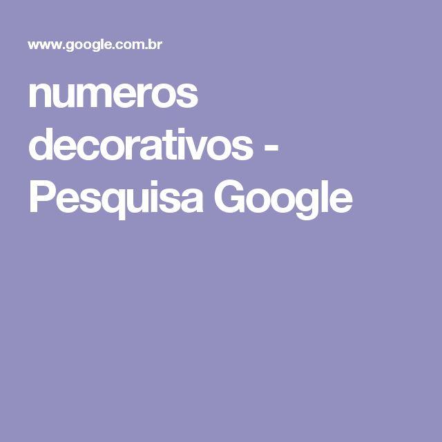 numeros decorativos - Pesquisa Google