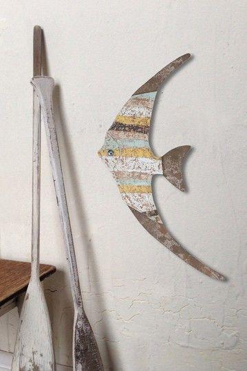 Wood Fish Wall Decor by Coastal Living Decor on @HauteLook