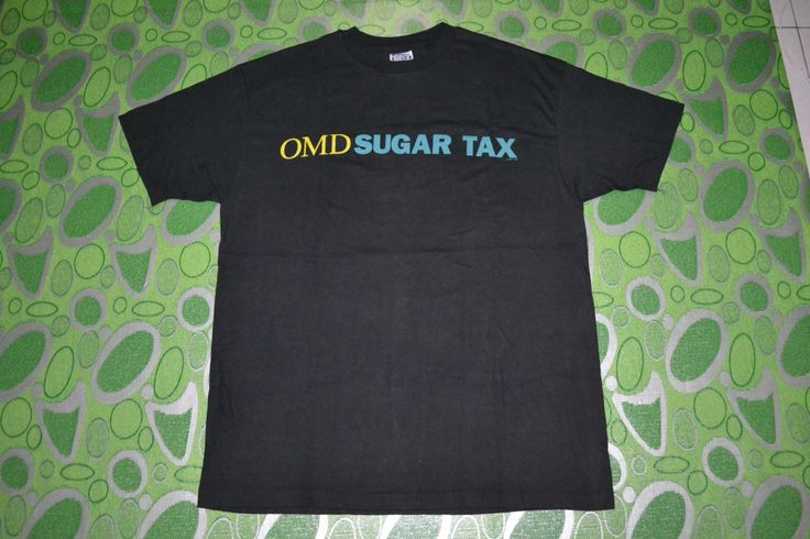 Vintage 1991 ORCHESTRAL MANOEUVRES In The Dark OMD Sugar Synthpop New Wave Tour Concert Promo album super rare T-shirt by OldSchoolZone on Etsy