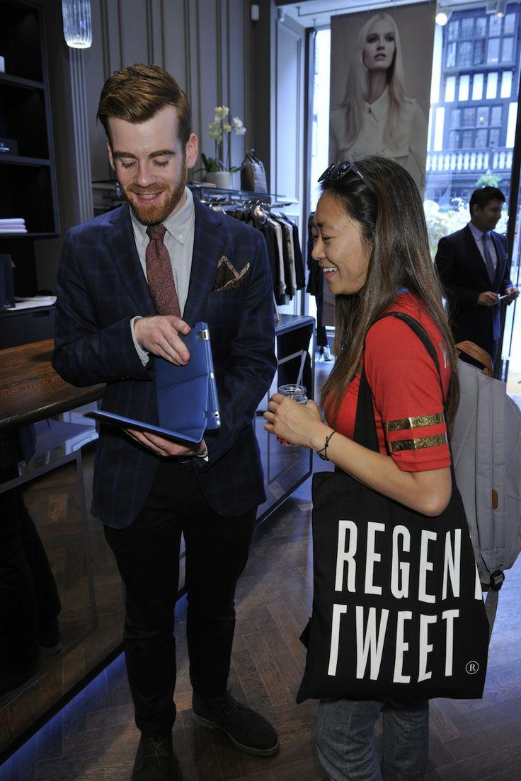 Aquascutum educate bloggers in the latest in fashion trends. #RegentTweet #RegentStreet