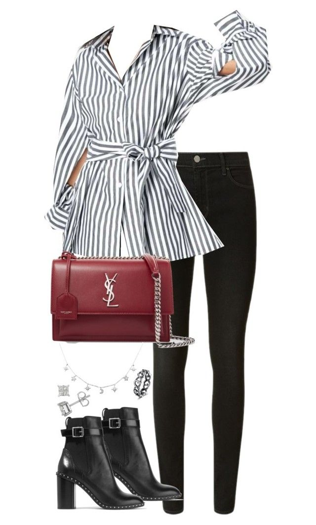 """Untitled #5047"" by theeuropeancloset on Polyvore featuring J Brand, Yves Saint Laurent and rag & bone"