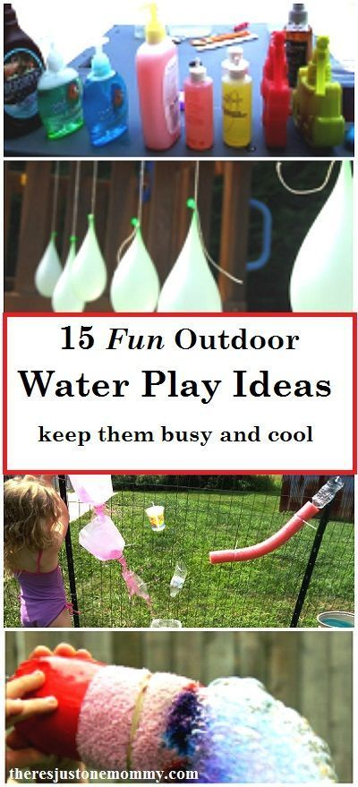 Need new ideas for the kids this summer?  Here are some simple water play ideas.  15 fun ways for kids to play with water and stay cool this summer
