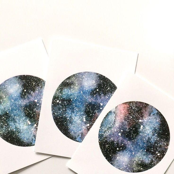 "34 likerklikk, 4 kommentarer – Birgithe Solstrand (@noordavind) på Instagram: ""Space prints, screen printed by hand  Available in my Etsy, link in bio!"""