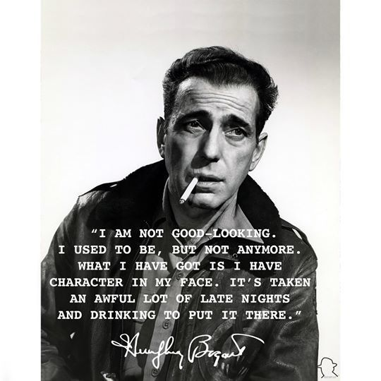 Humphrey Bogart Poster: Late Nights and Drinking