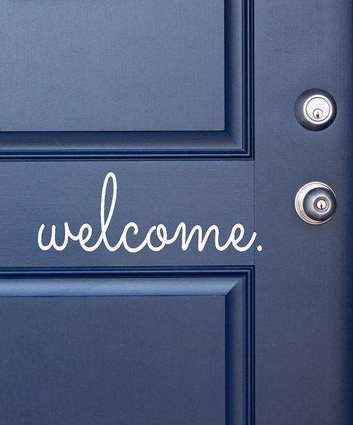 Take a look at the White 'Welcome' Decal on #zulily today!