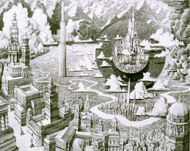 Intricate Cityscape Drawings by Benjamin Sack http://designwrld.com/intricate-cityscape-drawings-by-benjamin-sack/