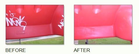 SOLUTION C Un produit anti-graffitis à action rapide qui agit sur toutes les surfaces lisses (surfaces peintes, verre, plastique, métal, etc.).
