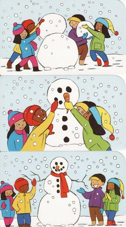 logische volgorde thema winter, free printable