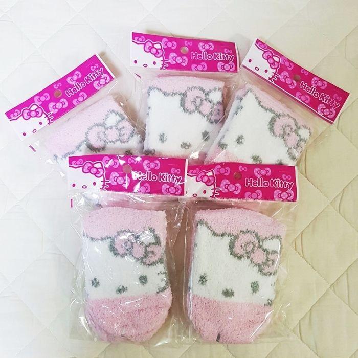5 Pairs Hello Kitty Character Bed Sleep Thick Socks Free Size Made Korea GKSW022 #HelloKitty #BedSocks