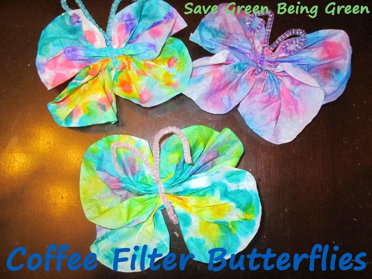 coffee craft ideas coffee filter butterfly craft project using dot markers 1334