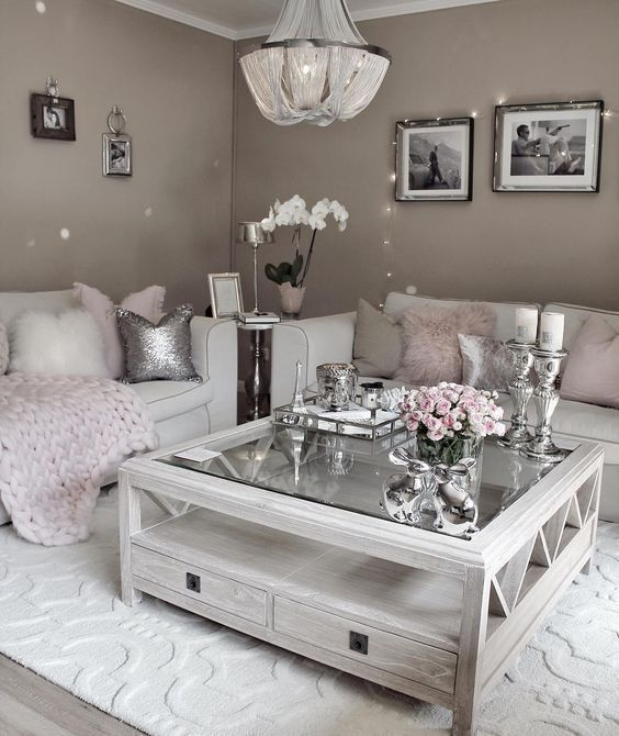 Lovely Vintage Living Room Ideas With Glamour Furniture: 25 Swoon-Worthy Glam Living Room Decor Ideas