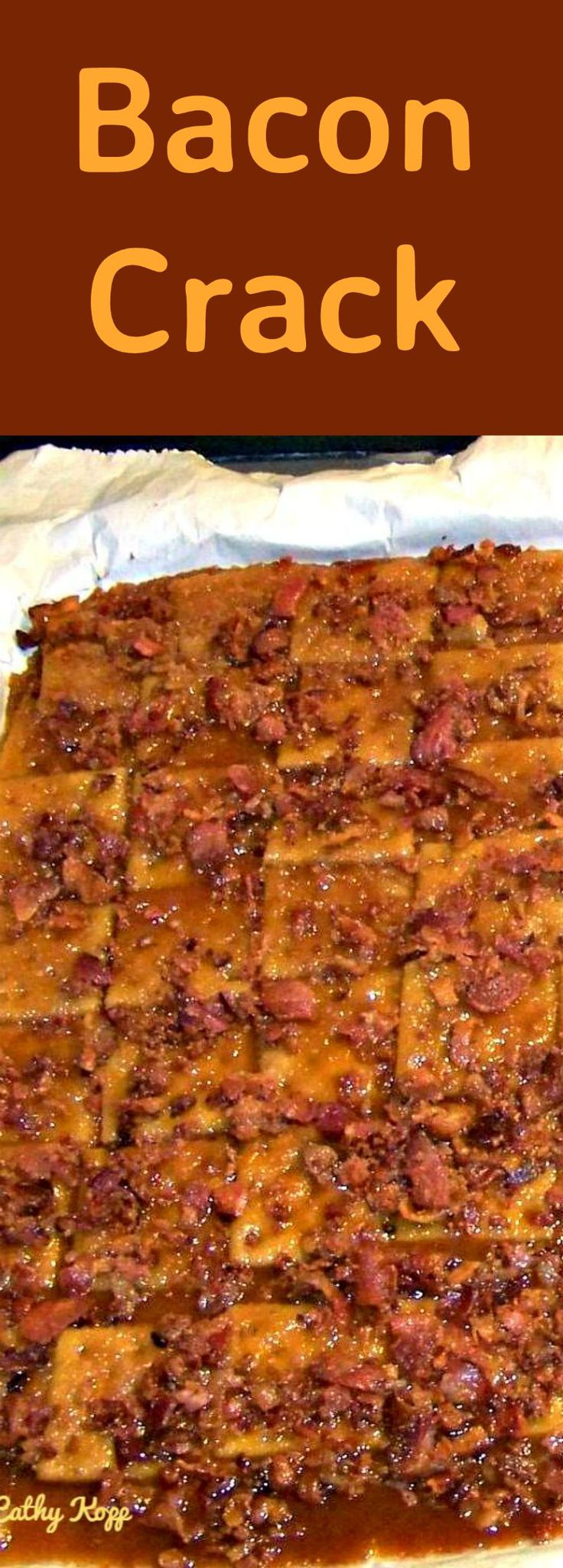 Bacon Crack. A.K.A Bacon Saltine Cracker Candy. If you've never tried this you're missing out! | Lovefoodies.com
