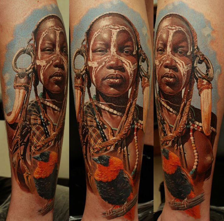 Brilliant photorealistic tattoo design by Dmitriy Samohin