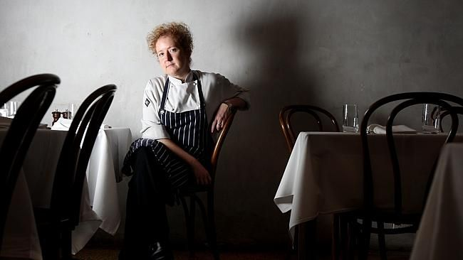 "Chef Nicky Reimer at Melbourne Wine Room, Fitzroy Street, St Kilda. MELBOURNE WINE ROOM (St Kilda)  Matt Preston: ""When I arrived in Melbourne, this was my favourite place to eat and drink. It seemed so perfectly and uniquely Melbourne. Cool without being pretentious and perfect at any time of day or (late) night. A hugely influential early example of a bar with food and it was Karen Martini's food, too! Oh, and don't forget the amazing bakery next door. Good times!"