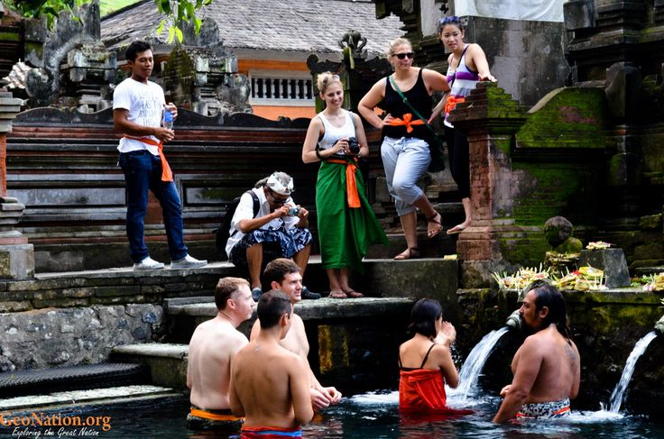 Some Tourist did Melukat in Tirta Empul