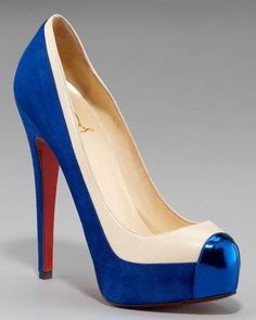 If I were going to be Wonder Woman for Halloween, I think I'd NEED these red, white and blue heels... if I could walk in them.
