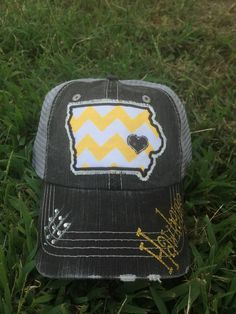 University of Iowa Hawkeyes State Baseball Bling Ladies Womens Trucker Hat