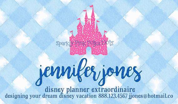 Disney Travel Agent Planner Business Cards