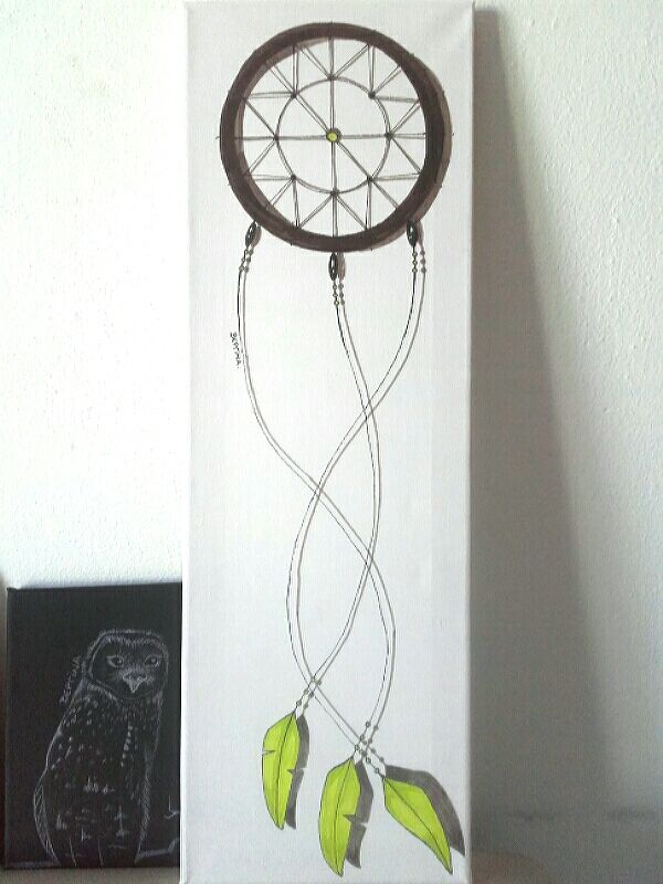 One more dreamcatcher - Markers Drawing