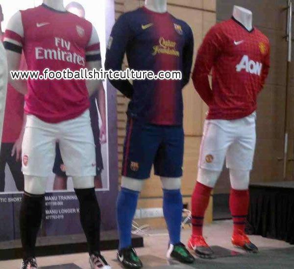 Arsenal, Barcelona + Man United Home Jerseys