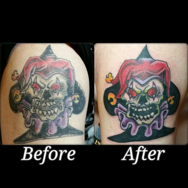 Jester tattoo I fixed.