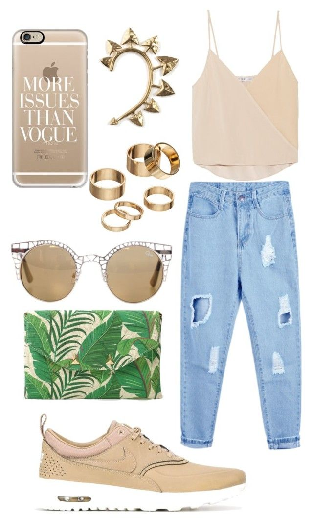 """""""Untitled #95"""" by helena-quaresma-cds on Polyvore featuring NIKE, Chelsea Flower, Stella & Dot, Rachel Entwistle, Casetify, Apt. 9 and Quay"""