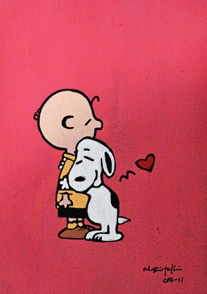 """""""❤"""", Snoopy and Charlie Brown."""