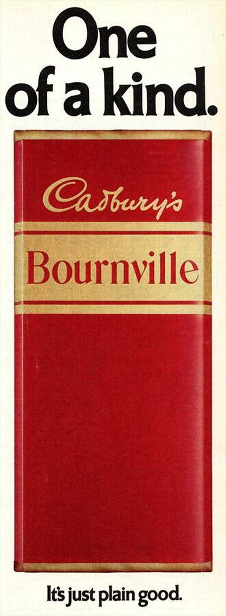 Cadbury's Bournville Chocolate. A 1970s magazine advert, courtesy of Carter Collectables