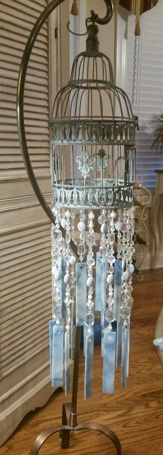 bird cage wind chime by KellisLilBoutique on Etsy