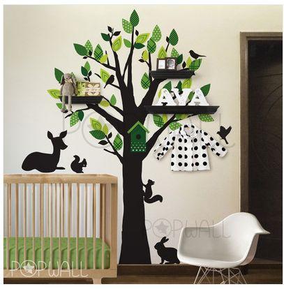 Tree. Shelves. Tree Shelves! Tree Decal NurseryKids Wall ...