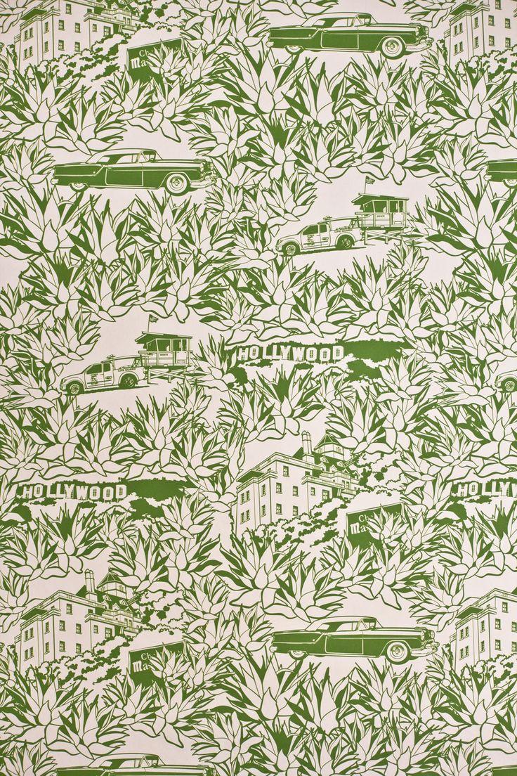 Wallpaper by Dominique Picquier Papier peint Los Angeles Couleurs personnalisées à votre demande/Custom colors to your need