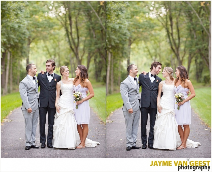 Bride And Groom With Best Man Maid Of Honour Only