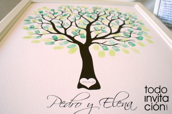 Cuadros de firmas con huellas en tu boda o celebraci n - Cuadros con botones ...