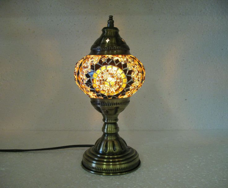 One of a kind glass table lamp moroccan lantern turkish candle holder light 24 #Handmade #Moroccan