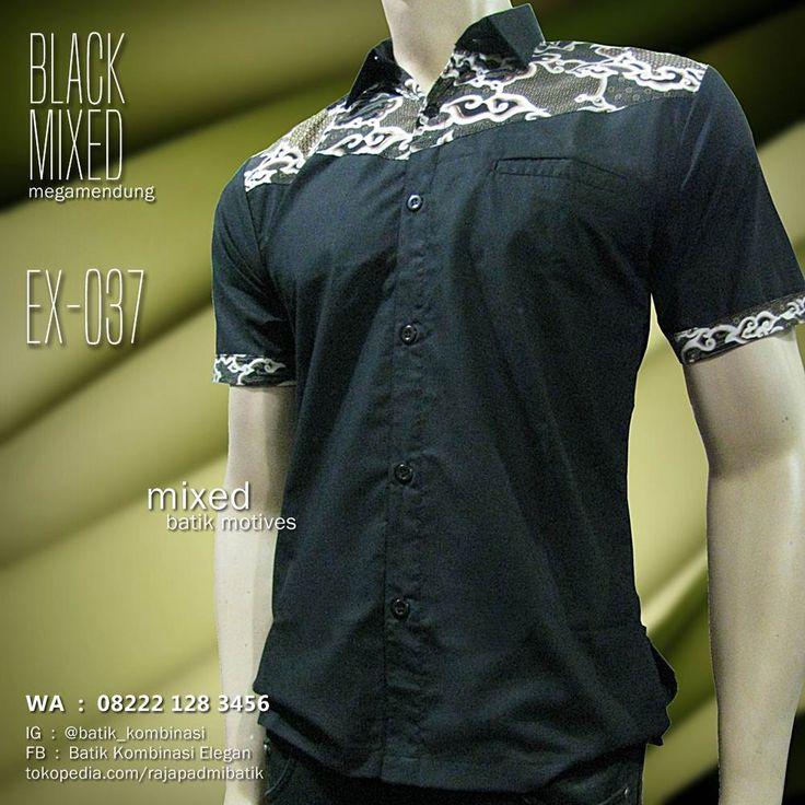 BATIK KOMBINASI HITAM, Seragam Batik, Black Mixed Batik, Baju Batik Modern, http://bit.ly/2qw7Lnd, WA : 08222 128 3456