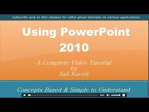 How To Use PowerPoint 2010 Free Video Tutorial - VivaeLearning: The Best Free Video Tutorials Online