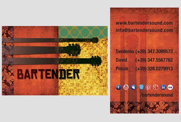 Bartender's new business card