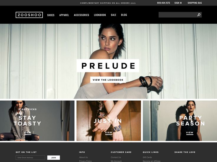eCommerce Homepage by courtney kim