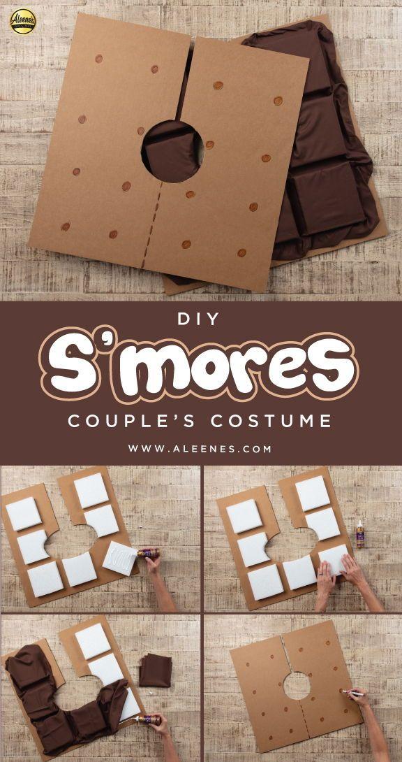 Diy S Mores Couple S Costume Diycouplecostume Diyhalloweencostume Nosewcostume Easycostume Cou Upcycle Diy Projects Diy Couples Costumes Couples Costumes
