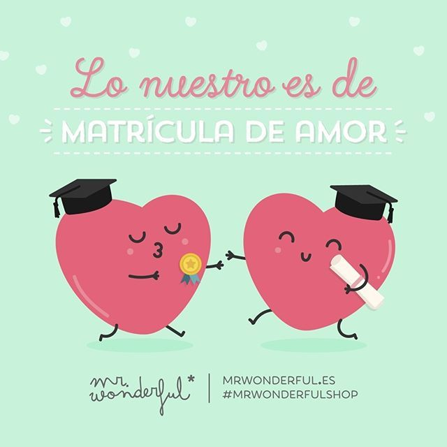 Mr. Wonderful. Lo nuestro es de matrícula de amor.