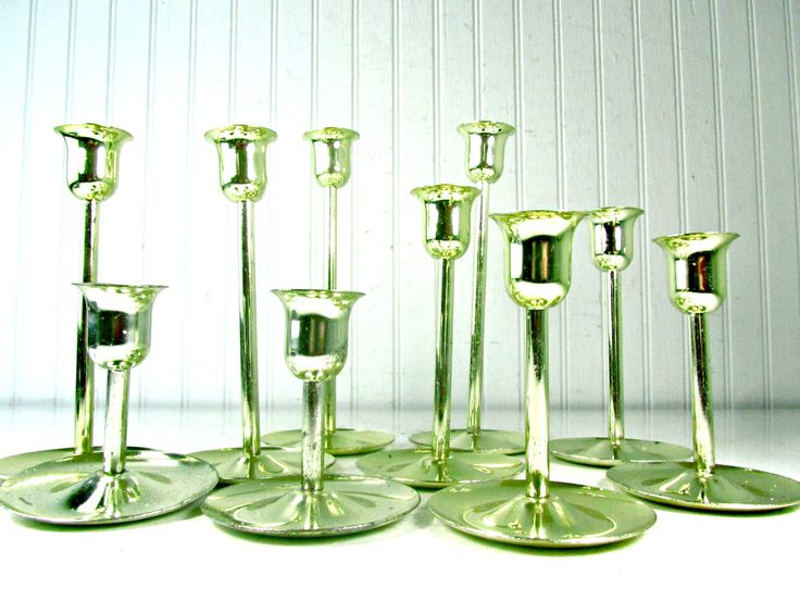 Brass Candle Sticks, Candle Stick Set, Brass Centerpiece, Candle Holder, Brass Candle Holders, Gift, vintage brass, wedding decor by KarensChicNShabby on Etsy
