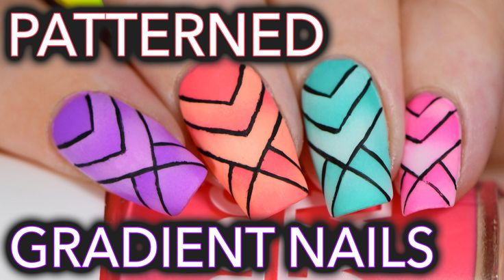 Scaled reciprocal pattern gradient nails IDK