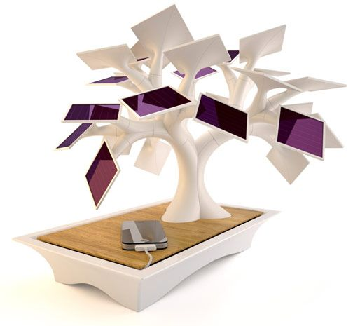 Lol, a bonsai tree that uses solar power to charge your gadgets