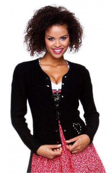 Traditional bavarian cardigan Rosali black