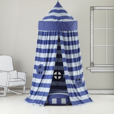 Home Sweet Play Home Canopy (Blue Stripe)Sweets Plays, Plays Circus, Kids Room, Reading Nooks, Stripes Plays, Blue Stripes, Circus Tents, Land Of Nod, Kids Canopies